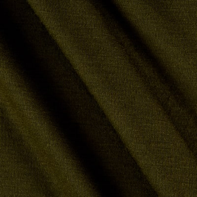 Polyester Jersey Knit Solid Olive