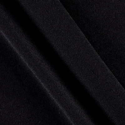 Polyester Jersey Knit Solid Black
