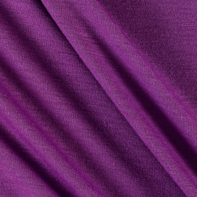 Polyester Jersey Knit Solid Plum
