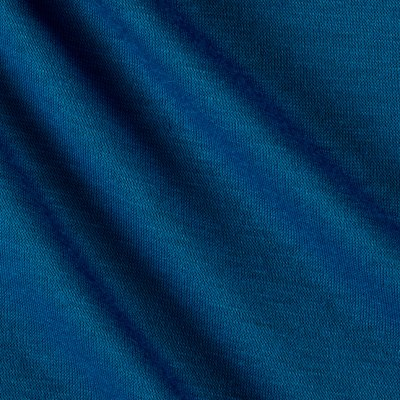 Polyester Jersey Knit Solid Peacock Blue