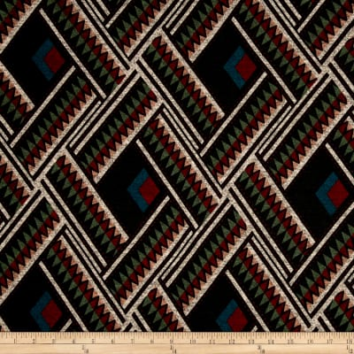 Hatchi Lightweight Sweater Knit Aztec Maroon/Teal Square and Green/Maroon Diamond