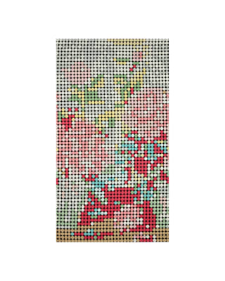 "Moda Meow or Never Dottie Floral 23"" Panel Pastel"