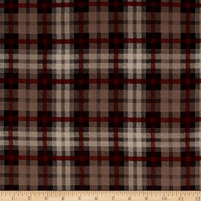 Crepe de Chine Checkered Brown