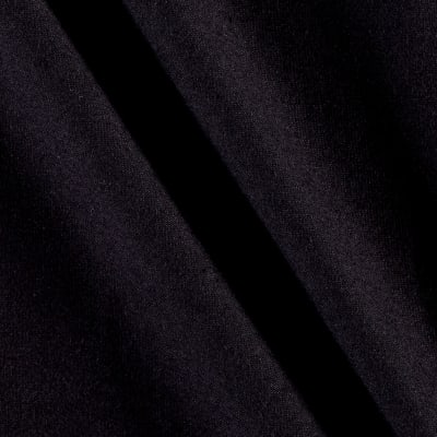 Cotton Spandex Knit Solid Onyx