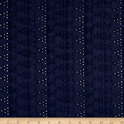Cotton Eyelet Triangles Navy