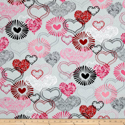 Adore Large Hearts Grey