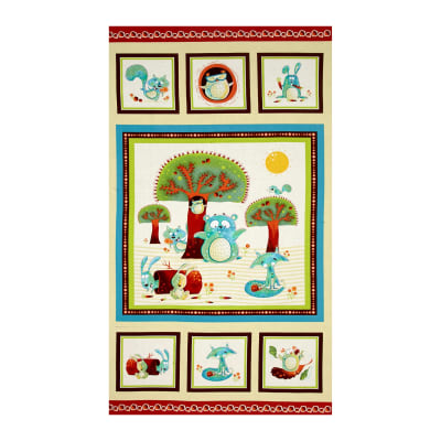 "Woodsy Wonders Character 23.5"" Panel Ecru/Multi"