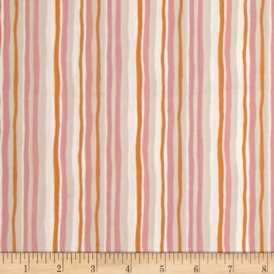 Woodland Gathering Organic Stripe Pink