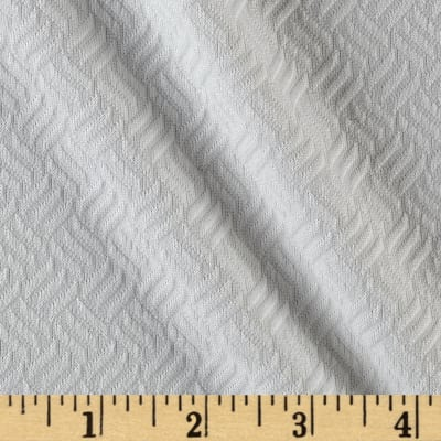 Quilted Liverpool Double Knit Diagonal Weave Ivory