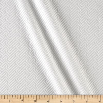 Quilted Liverpool Double Knit Diagonal Basketweave White