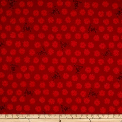 Cloud 9 Orangic Corduroy Bear Buttons Red