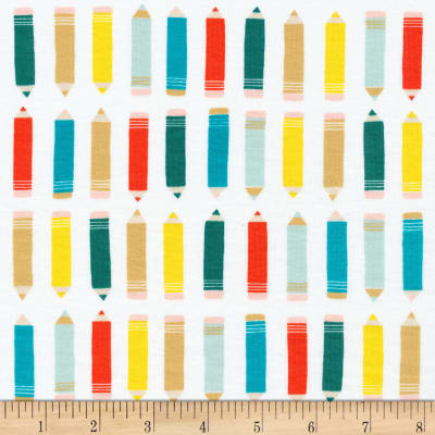 Cloud 9 Organics Sidewalk Interlock Knit Art Class Pencils White