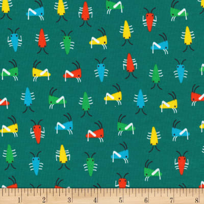 Cloud9 Fabrics Organic Sidewalk Interlock Knit Bug's Life Green
