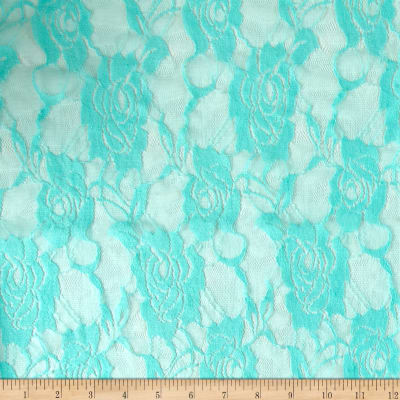 Stretch Lace Floral Mint