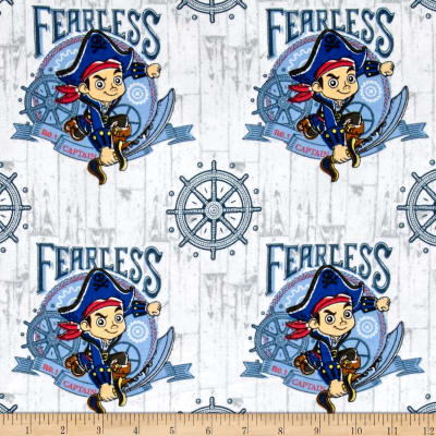 Disney Flannel Jake Fearless Captain White