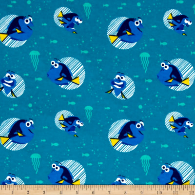 Disney Flannel Finding Dory Teal