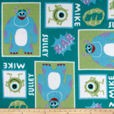 Disney Fleece Mike & Sully Block Deep Green