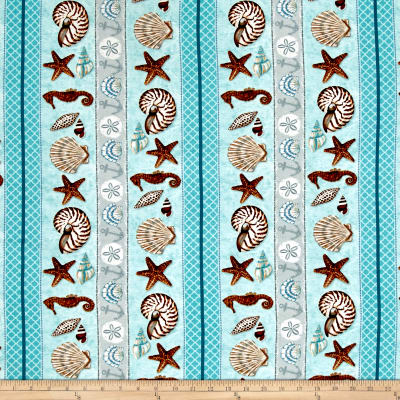 Seaside Dreams Seaside Stripe Aqua