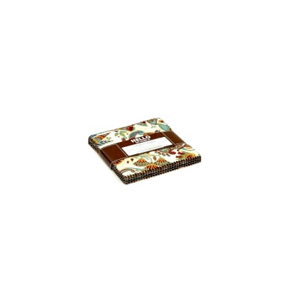"""Kaufman Valley of the Kings 5"""" Charm Square Spice"""