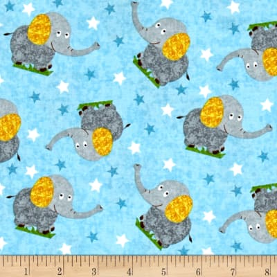 Safari Expedition Elephants Light Blue