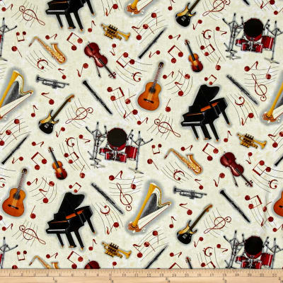 Sound of Music Tossed Instruments Ivory