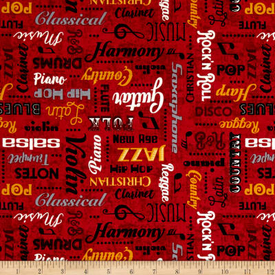 Sound of Music Music Words Red