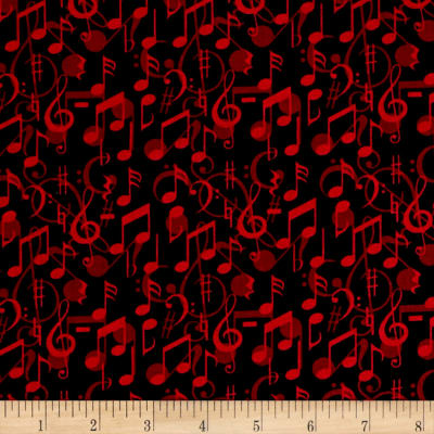 Sound of Music Music Notes Black/Red