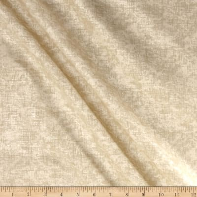 "Pearlized Grid 108"" Wide Back Parchment"