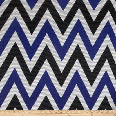 Mesh Knit Chevron Royal/Black/White
