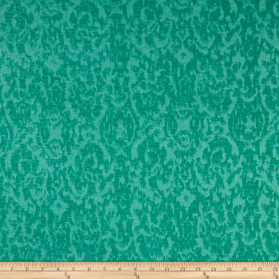 Jersey Burnout Knit Abstract Damask Shamrock