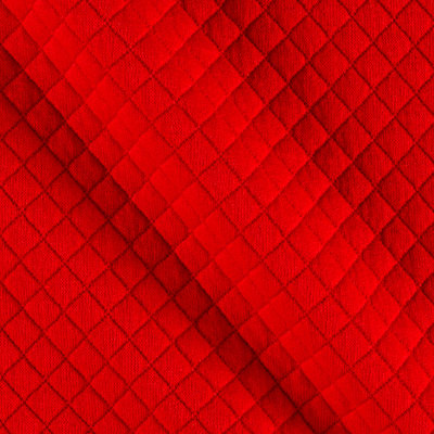 Telio Mini Quilted Knit Diamond Red