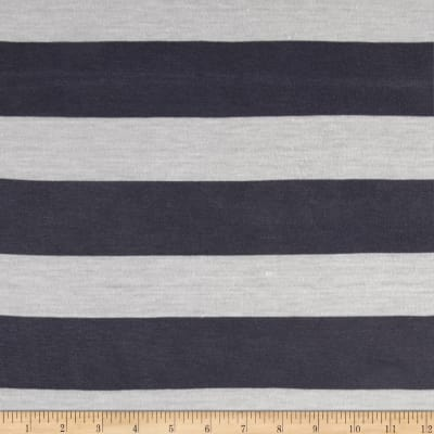 Jersey Knit Stripe Fossil/White