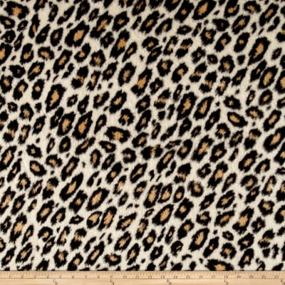Whisper Plush Fleece Cheetah Tan
