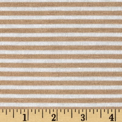 Jersey Knit Mini Sand Stripe/Ivory