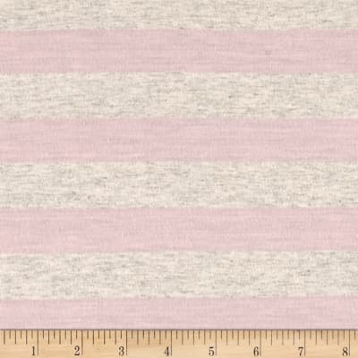 Jersey Knit Stripe Blush Pink/Oat