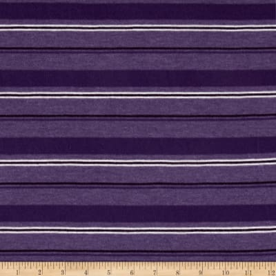 Jersey Knit Mini White Stripe Purple/Mauve