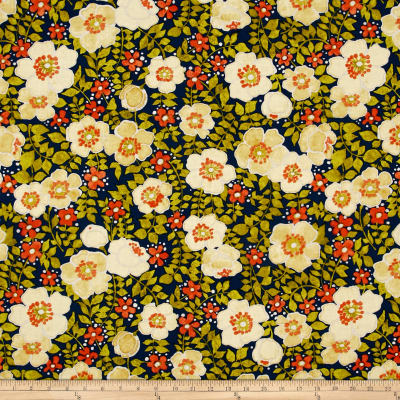 Dear Stella Vintage Flowers Blue/Orange
