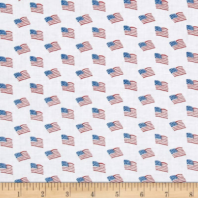 Storybook Americana Flags White