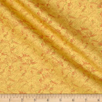 Asian Fanfare Floral Yellow