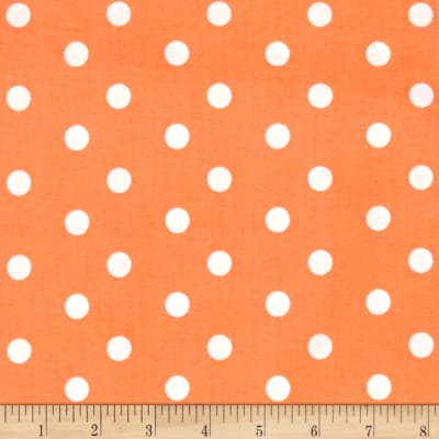 Baby Talk Polka Dots Orange/White