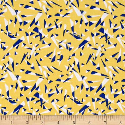Graphix 3 Tossed Triangles Yellow/Blue/White