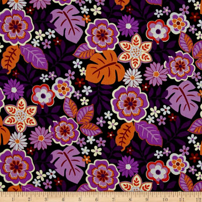 Cassandra Floral Purple/Orange