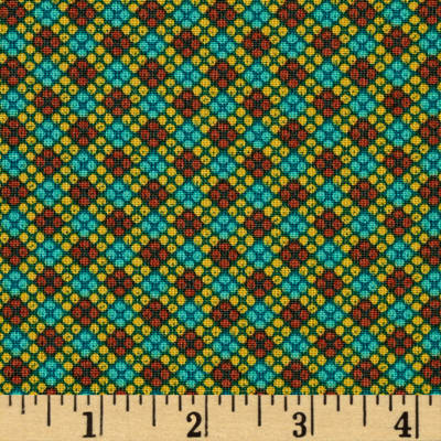 Who's Who Flower Grid Green/Brown