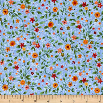 Bird Song Floral Blue/Multi