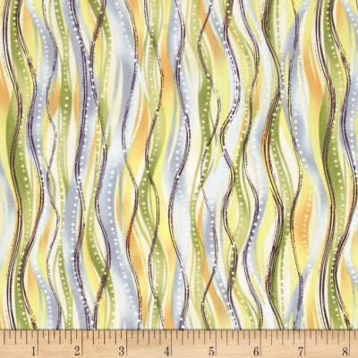 Botanical Society Wavy Lines Yellow/Blue