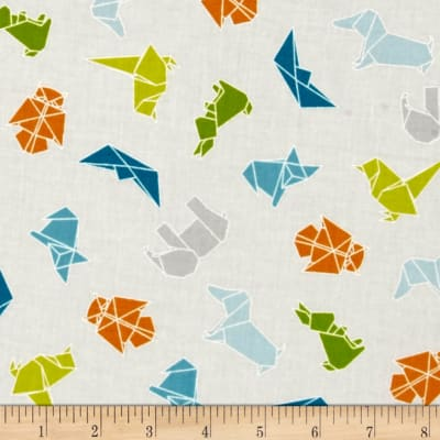 Moda Mixed Bag Flannel Origami Sprouts