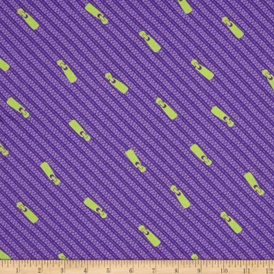 Moda Sewing Box Zippers Purple