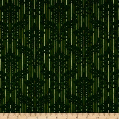 Windham Christmas Peace Damask Stripe  Green