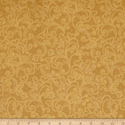 Windham Glisten Metallic Scrolls  Gold