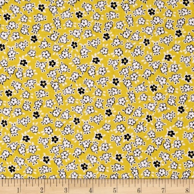 Windham Playdate Scattered Flowers  Yellow